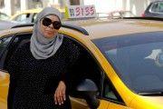 Cab-driver Yamina Jaouani in Tunisia