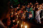Bangladeshis tribute victims at the Holey Artisan Bakery