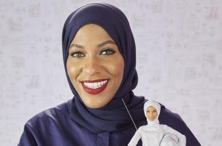 Olympian Ibtihaj Muhammad  Inspires Hijabi Barbie
