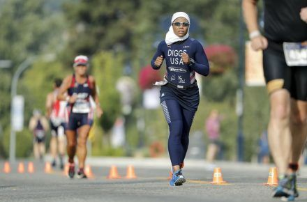 Triathlete On What It's Like To Compete Fully Covered...