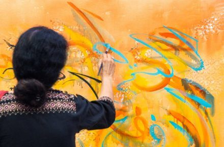 This artist wants to make Islamic calligraphy a universal language