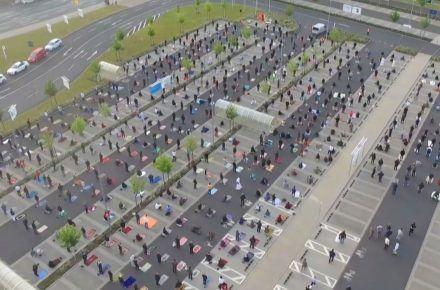 Coronavirus Report:  Ikea parking turns into DIY mosque for Eid prayer